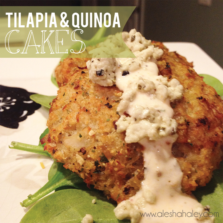 Tilapia & Quinoa Cakes // Alesha Haley #cleaneating