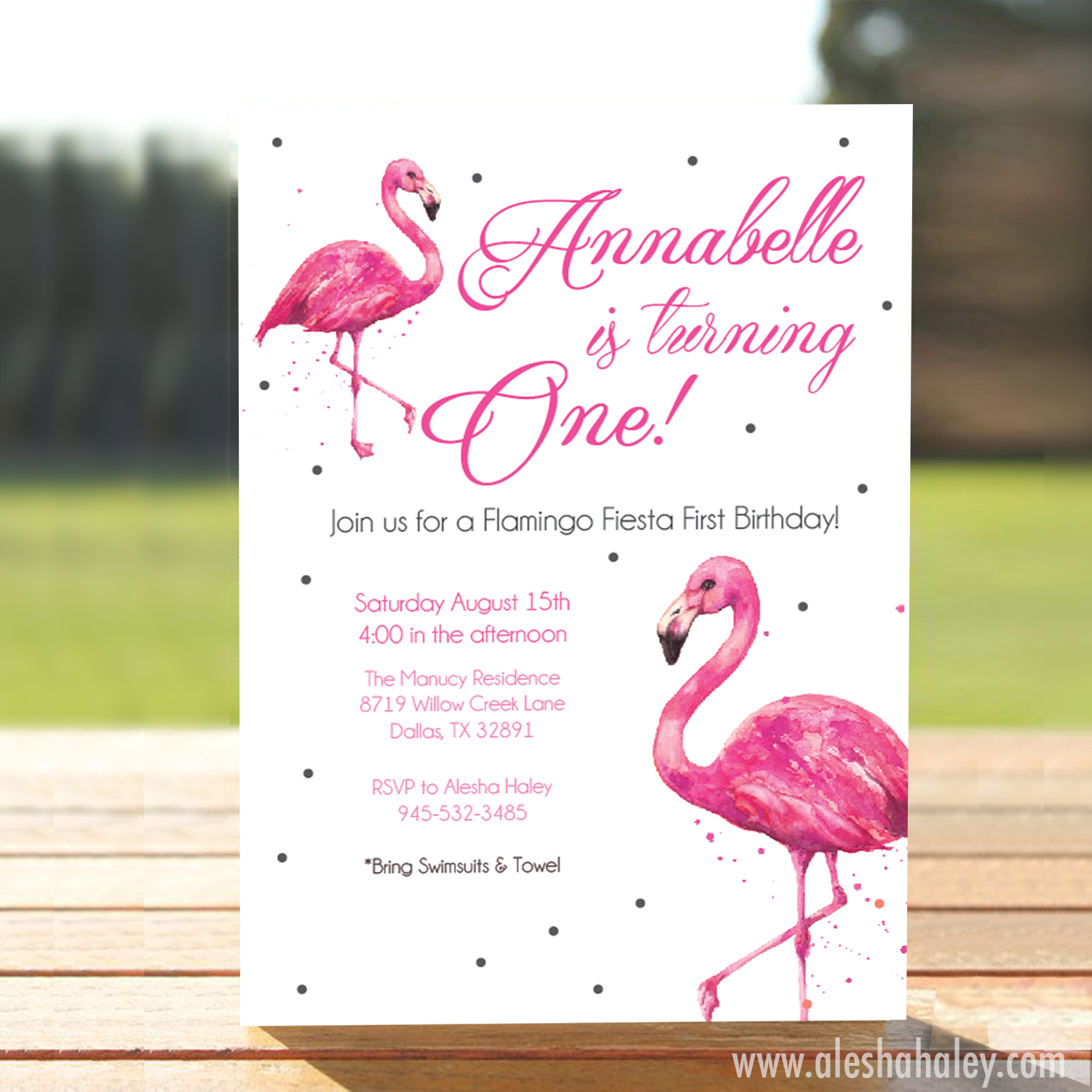 Flamingo Fiesta // First Birthday