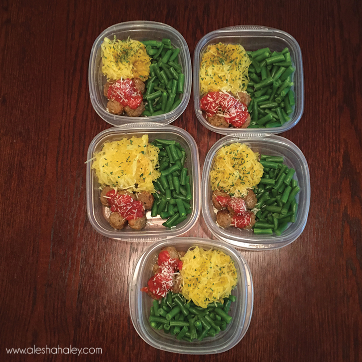 21 day fix Meal Prep - spaghetti squash #21dayfix
